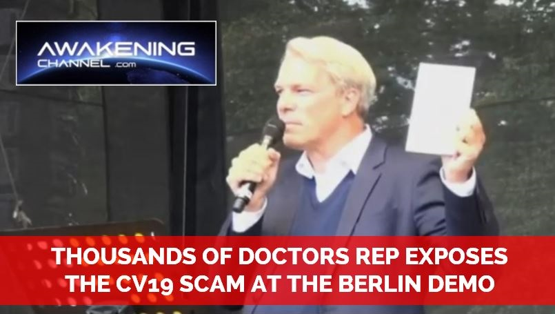 THOUSANDS OF DOCTORS EXPOSE THE CV19 SCAM AT THE BERLIN DEMONSTRATION