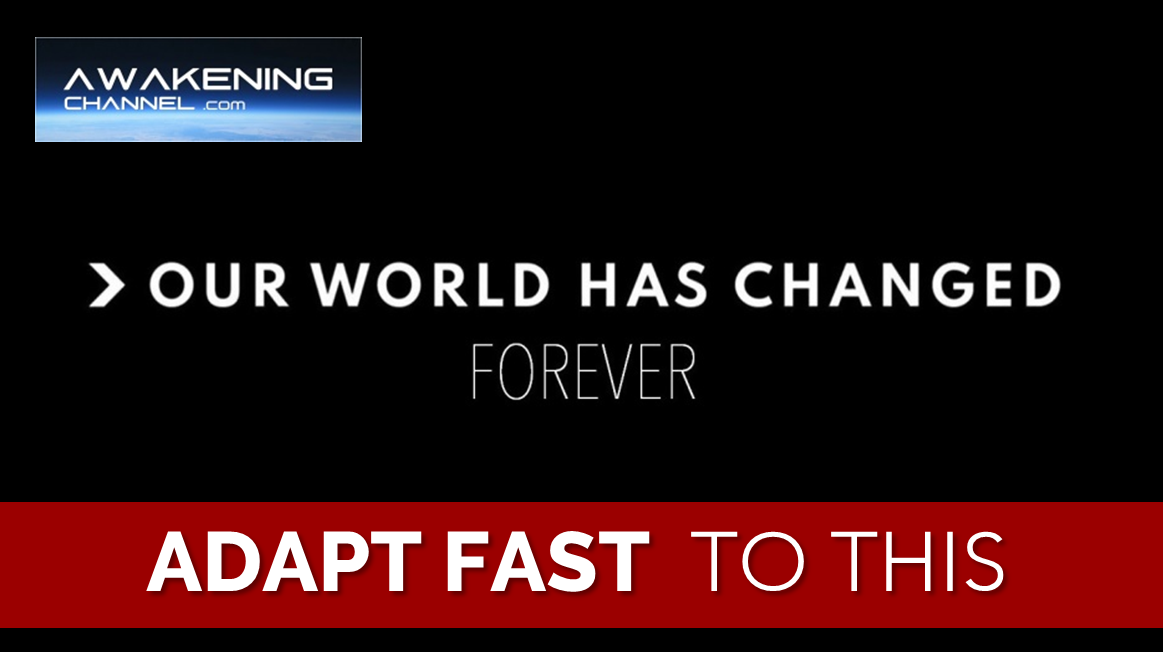 The World has Changed Forever. Adapt Fast to this