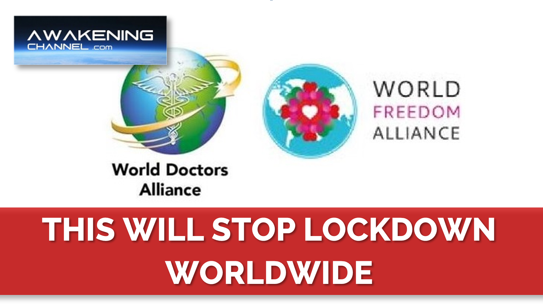 This Will Stop the Lockdown Worldwide. President of the WDA, WFA