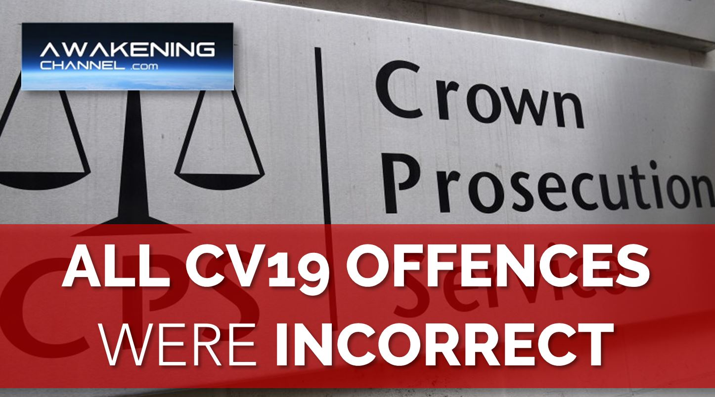 ALL Offences Charged Under the Coronavirus Act Were Incorrectly Charged.  The CPS Admits