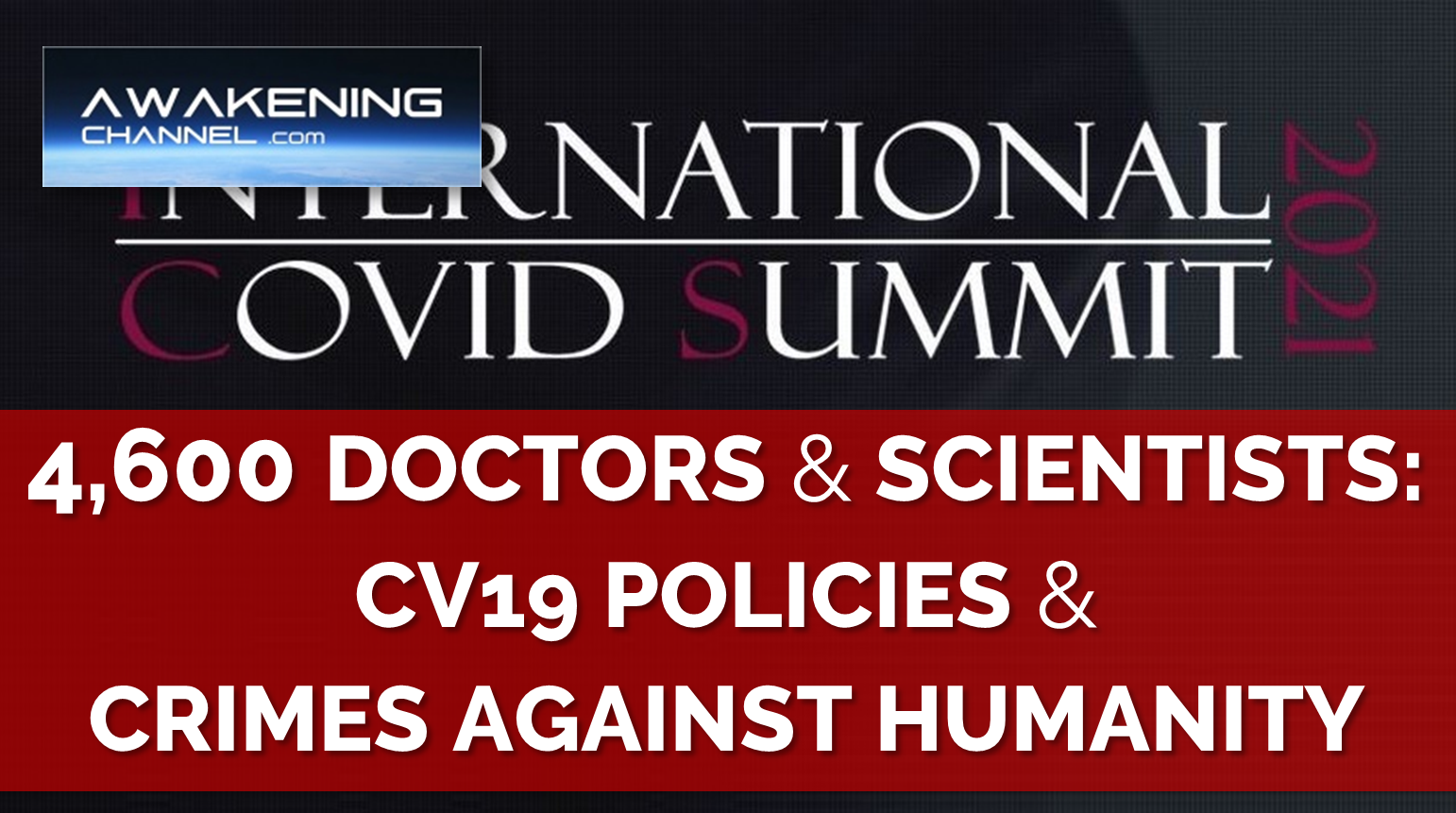 4,600 Doctors & Scientists: These Policies may actually constitute Crimes Against Humanity